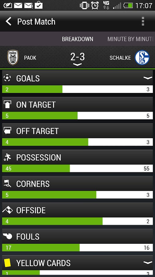 HTC FootballFeed - screenshot