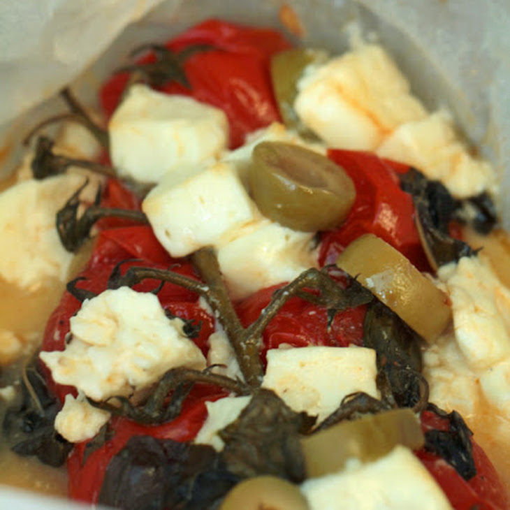Tomato, Feta, Olive, Basil Wrap Recipe