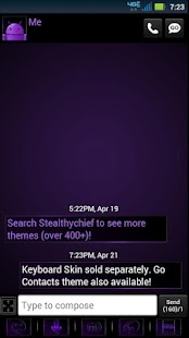 GO SMS Dark Purple Theme- screenshot thumbnail