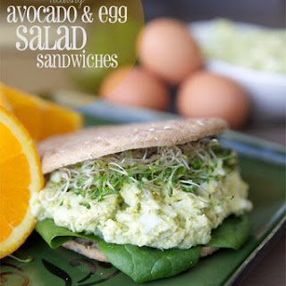 Healthy Avocado And Egg Salad Sandwich.