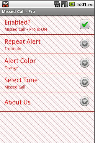 Missed Call - Pro