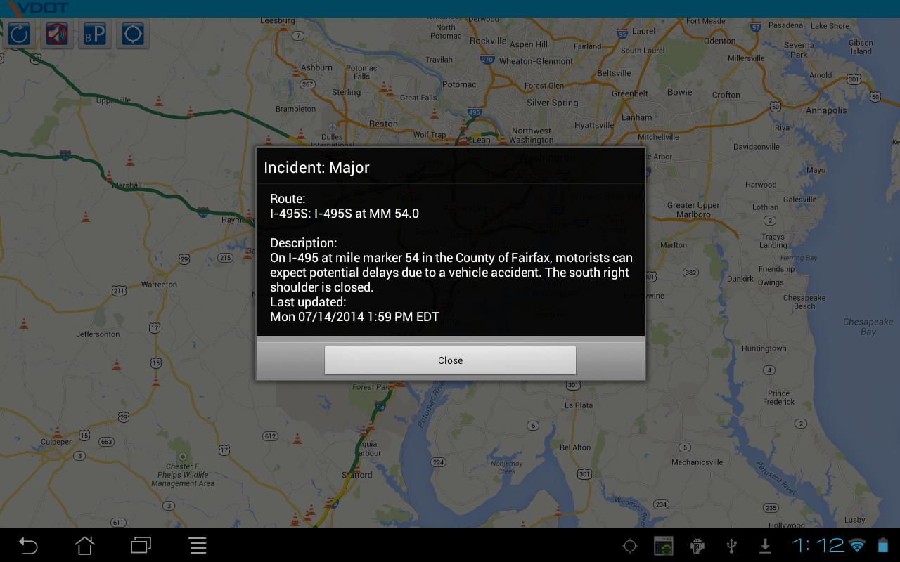 VDOT 511 Virginia Traffic - screenshot