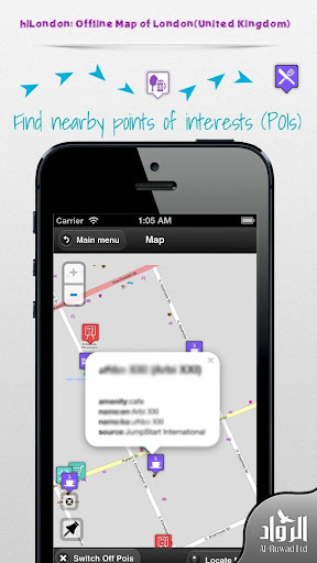 London offline map from hiMaps