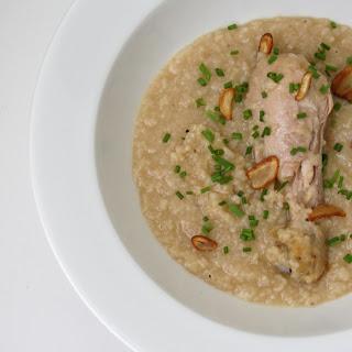 Filipino style Chicken Rice Porridge.