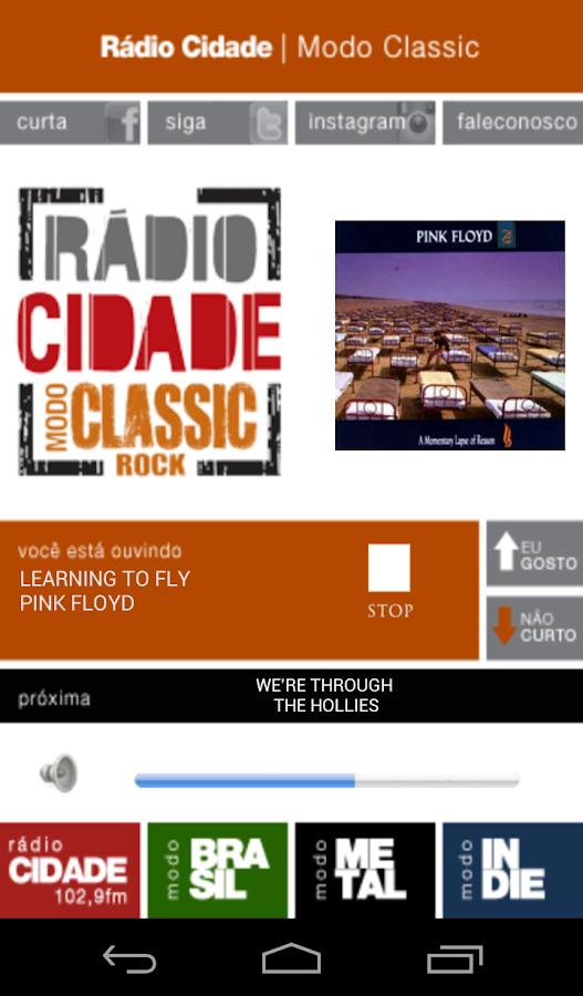 Rádio Cidade - screenshot