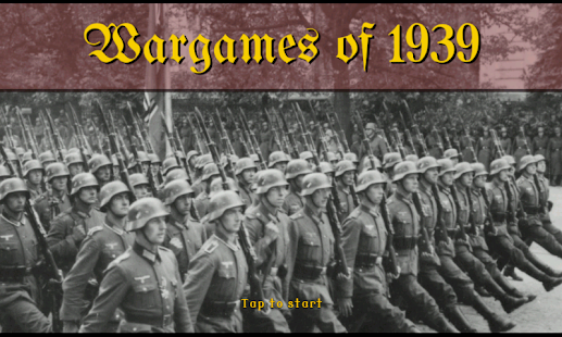 Wargames of 1939- screenshot thumbnail