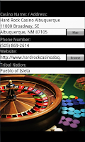 Screenshot of Tribal Casinos for Tablets