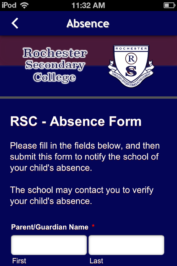 Rochester Secondary College- screenshot