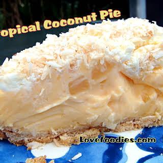 Tropical Coconut Pie.
