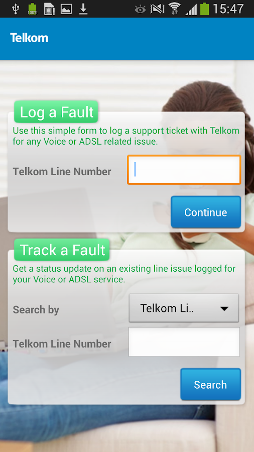 Telkom - screenshot