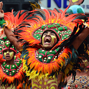 Hala, Bira! by Banggi Cua - People Musicians & Entertainers ( dinagyang warrior, festival, philippine festival, portrait )