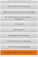 Screenshot of Audiobook - Small Business
