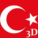Türk Bayrağı 3D icon