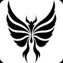 Tribal Butterfly Tattoo Design logo