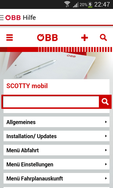 ÖBB Scotty – Screenshot