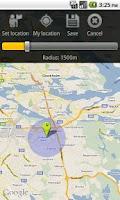 Screenshot of Wake me GPS