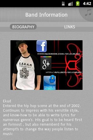 Ekud_Music - screenshot