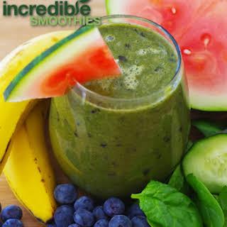 Blueberry-Watermelon Green Smoothie.
