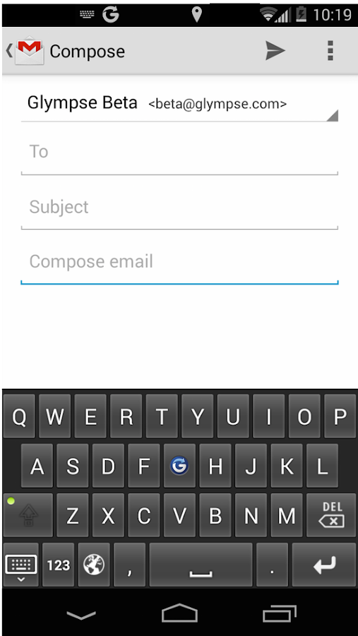 Glympse Keyboard- screenshot