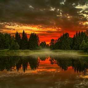 by Laimonas Šepetys - Landscapes Sunsets & Sunrises ( red, green,  )