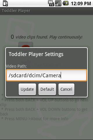 Toddler Video Player - screenshot