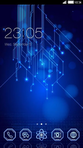 Blue Matrix C Launcher Theme