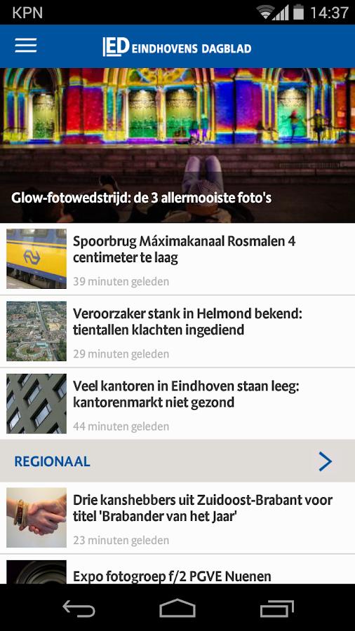ED nieuws - screenshot