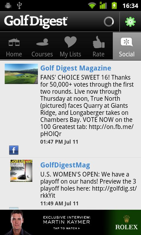 Golf Digest Course Critic- screenshot