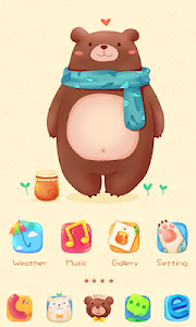 Sweet Bear GO Launcher Theme v1.0