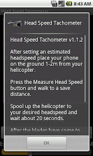 Head Speed Tachometer - screenshot thumbnail