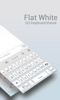 Screenshot of GO Keyboard Flat White Theme