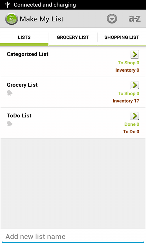 Make My List: To Do/Grocery- screenshot
