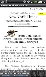 1861 Aug Am Civil War Gazette- screenshot thumbnail