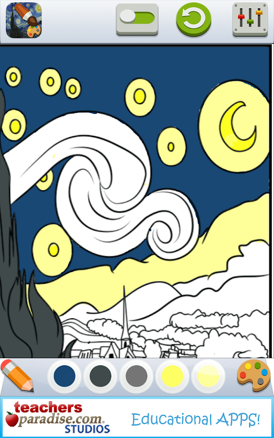Vincent Van Gogh Coloring Book Screenshot