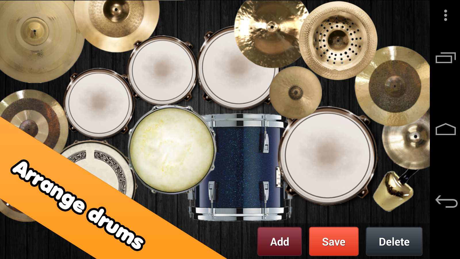 Drum kit: captura de pantalla
