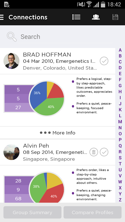 Emergenetics+- screenshot