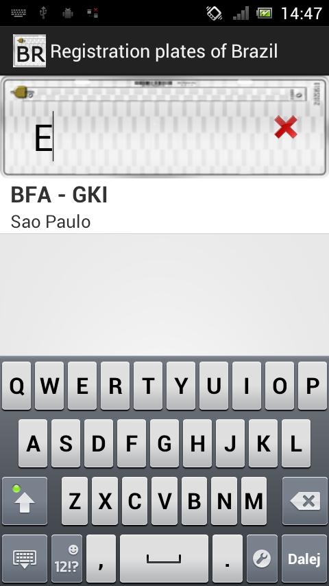 Registration Plates of Brazil - screenshot