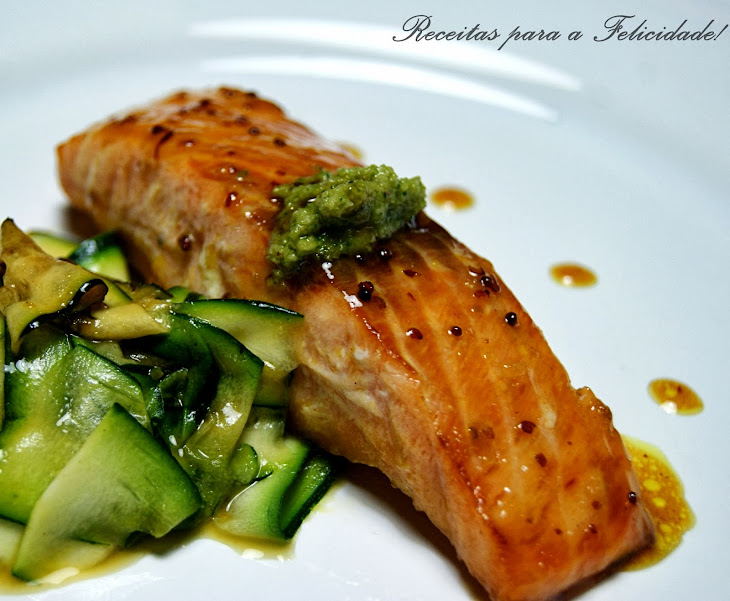 Caramelized Salmon with Honey and Mustard Recipe