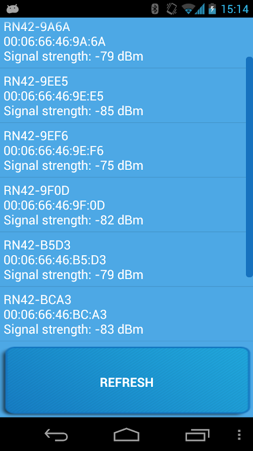 Signal Sniffer - Fitbit finder- screenshot