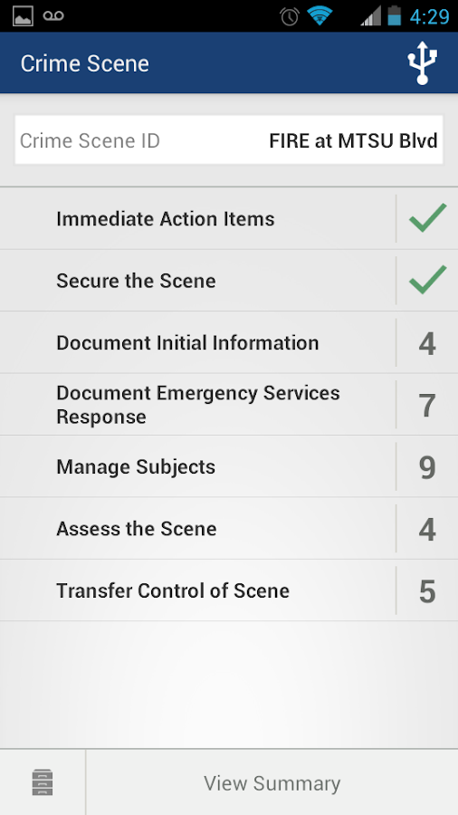 Checklist App for Scene Exam- screenshot