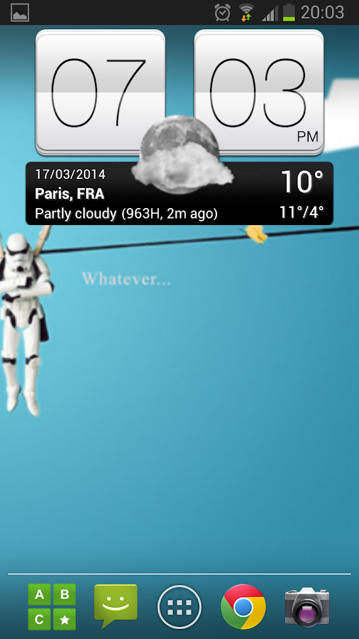 Sense V2 Flip Clock & Weather - screenshot
