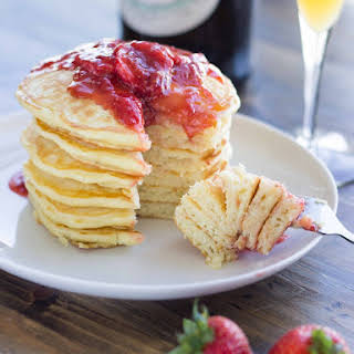 Strawberry and Champagne Pancakes.