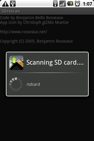 SDrescan - screenshot