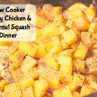 Savory Slow Cooker Chicken and Butternut Squash