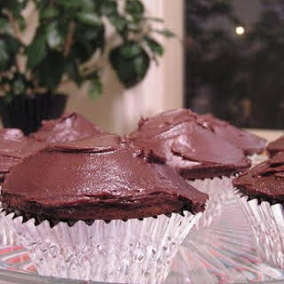 Peanut Butter Chocolate-Chip Cupcakes with Chocolate Icing.