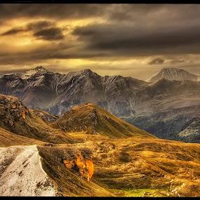 from Edelweißspitze IV by Petr Klingr - Landscapes Mountains & Hills ( grossglockner hochalpenstraße     edelweißspitze     hdr     alps     snow     mountain     sun,  )