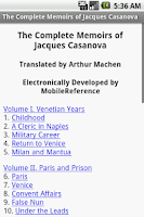 Screenshot of Memoirs of Jacques Casanova