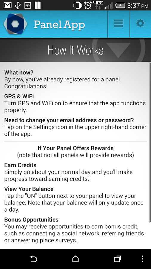 Panel App - Prizes & Rewards - screenshot