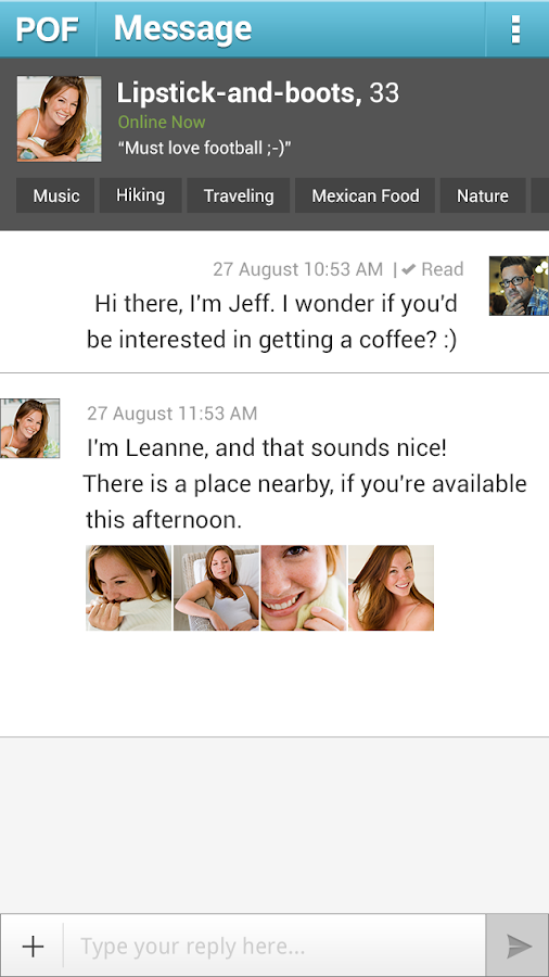 POF Free Online Dating - screenshot