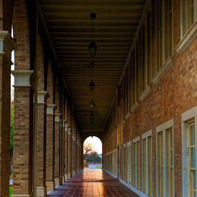 Toward by Yu Tsumura - Buildings & Architecture Architectural Detail ( building, passage, sunset, way, western,  )